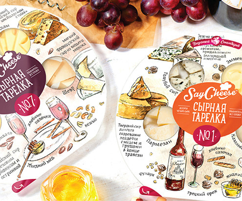 Дизайн упаковки сырных деликатесов Say Cheese